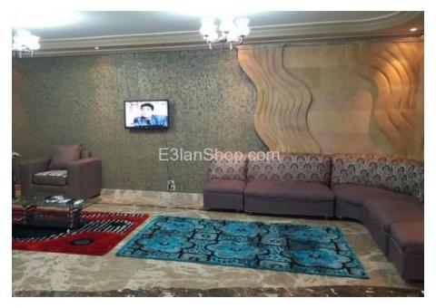 شقة مفروشة للايجار هاى لوكس 260 متر شارع عباس العقاد للايام و المدد 650 ج.م