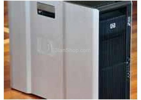 HP Z800 XEON E5620 كاش 12 ميجا رمات 8 جيجا للرندار والجرفك