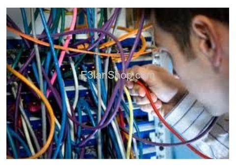 توريد وتركيب ومعالجه  جميع  الشبكات