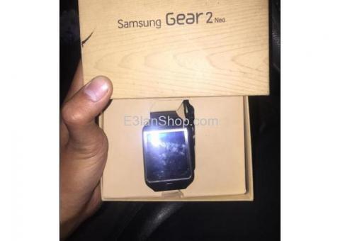 للبيع ساعة samsung gear 2 neo بالعلبة كاملة