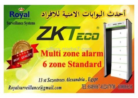 أحدث البوابات الامنية للافراد 6 ZONE  ماركة ZKTeco
