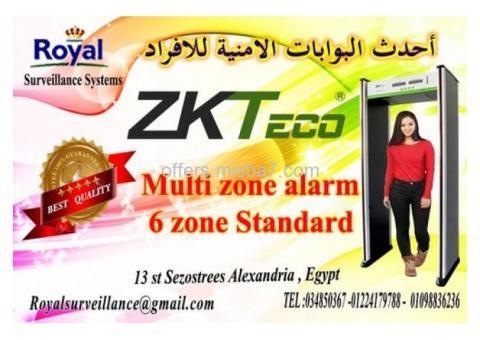 أفضل البوابات الامنية للكشف عن الاسلحة و المتفجرات 6 ZONE ماركة ZKTeco