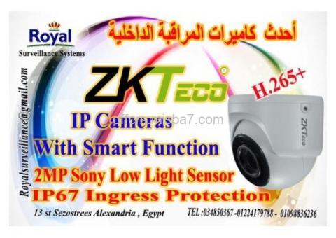كاميرات مراقبة داخلية  IP Cameras 2MP بالخصائص الذكية ماركة ZKTECO