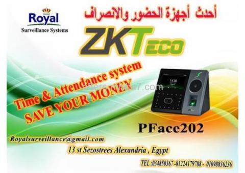بالأسكندرية ساعات الحضور والانصراف موديل PFace 202