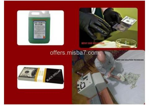 BLACK MONE CLEANING WITH SSD SOLUTION CHEMICAL